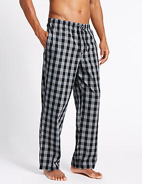 2 Pack Checked Pyjama Bottoms