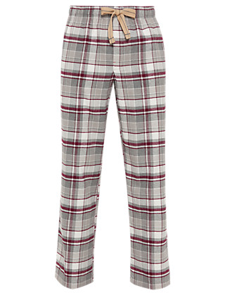 Pure Cotton Checked Pyjama Bottoms Clothing
