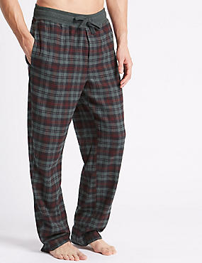 Pure Cotton Checked Pyjama Bottom