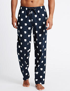Pure Cotton Stay Soft Animal Print Pyjama Bottoms