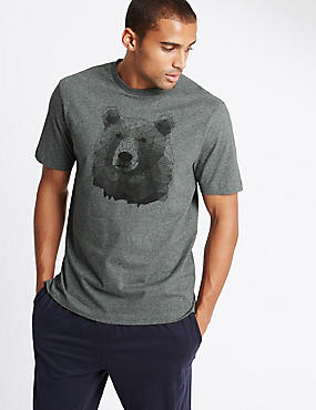 Super Soft Bear Print Pyjama Top