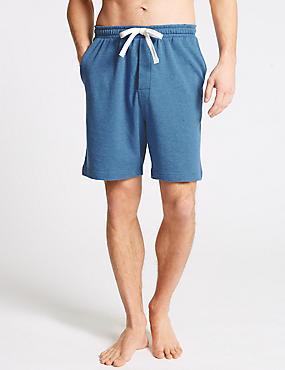 Pure Cotton Shorts, DENIM, catlanding