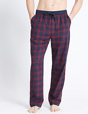 Pure Cotton Checked Long Pyjama Bottom