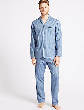Pure Cotton Slim Fit Striped Pyjama Set