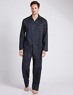 Pure Cotton Spotted Pyjamas