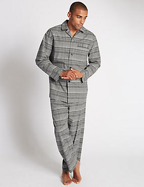 Pure Cotton City Checked Pyjamas