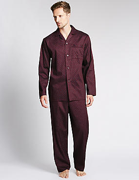 2in Longer Pure Cotton Printed Pyjamas
