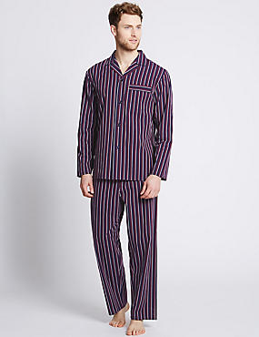 Pure Cotton Striped Pyjamas