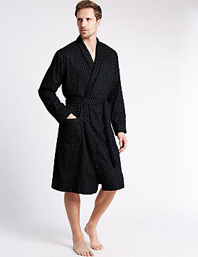 Pure Cotton Lightweight Belted Dressing Gown