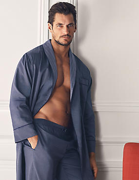 Slim Fit Pure Cotton Dressing Gown