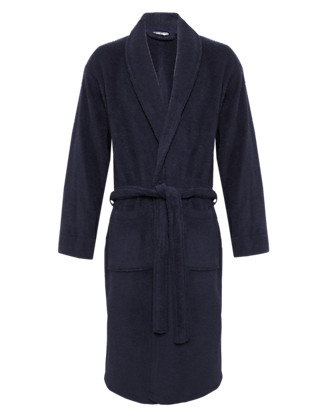 Cotton Rich Towelling Dressing Gown Clothing