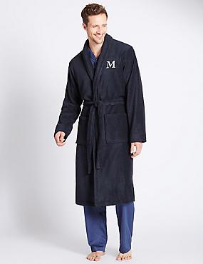 Super Soft Cotton Personalised Alphabet M Gown, NAVY, catlanding