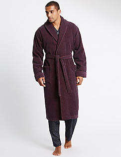 Mens Dressing Gowns | Cotton Towelling Gowns For Men | M&S IE