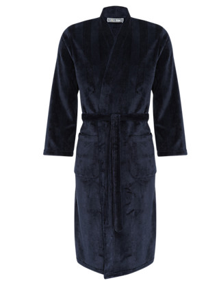 Thermal Ribbed Fleece Dressing Gown Clothing