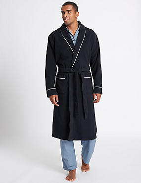 Shawl Neck Fleece Dressing Gown