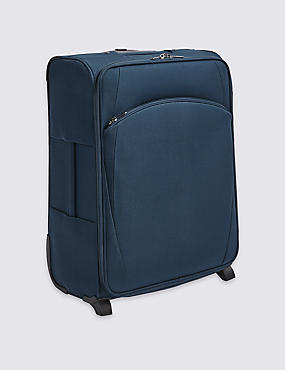 Medium 2 Wheel Essential Soft Suitcase with Security Zip