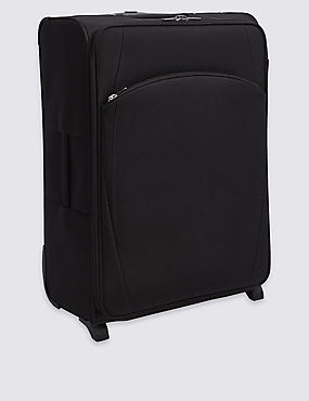 Large 2 Wheel Essential Soft Suitcase with Security Zip