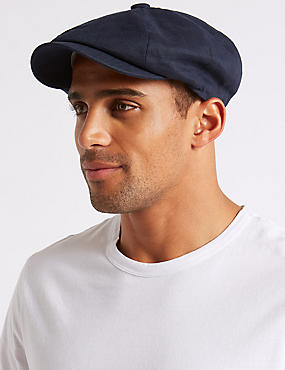 Pure Linen Baker Boy Cap with Cool & Fresh™