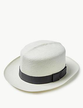 Foldable Panama Hat, NATURAL, catlanding