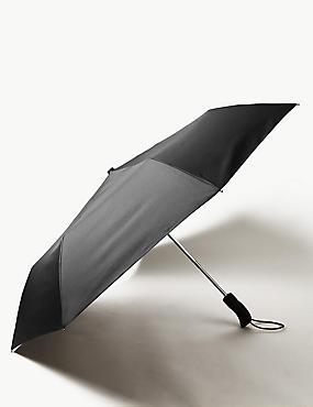 Travel Umbrella with Stormwear™ & Windtech™, BLACK, catlanding
