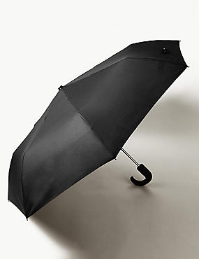 City Umbrella with Stormwear™ and Windtech™, BLACK, catlanding