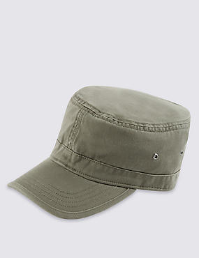 Washed Panelled Cap