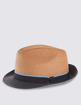 Colour Block Trilby Hat