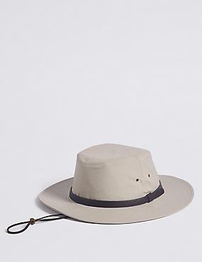Pure Cotton Ambassador Hat with Stormwear™, STONE, catlanding