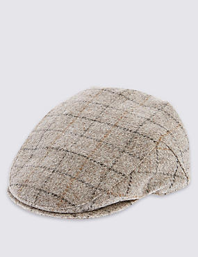 Pure Wool Mini Thinsulate™ Flat Cap with Stormwear™