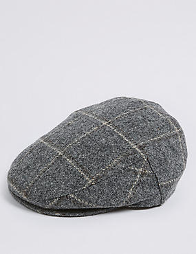 Pure Wool Thinsulate™ Flat Cap with Stormwear™, GREY, catlanding