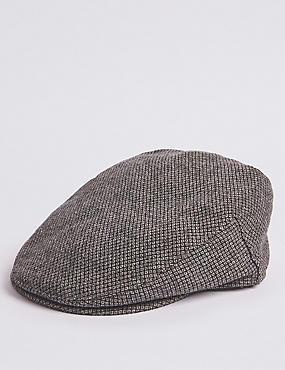 Micro Dobby Design Flat Cap, GREY MIX, catlanding