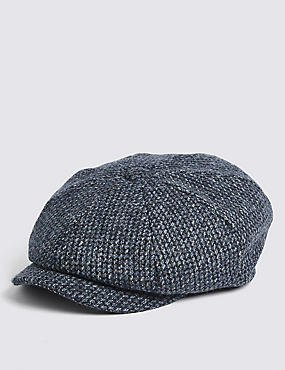 Pure Wool  Baker Boy Cap Stormwear™ , BLUE MIX, catlanding
