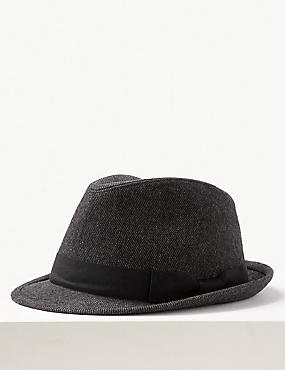 Twill Trilby Hat with Stormwear™, CHARCOAL, catlanding