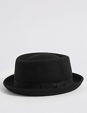 Pure Wool Felt Trilby Hat with Stormwear™