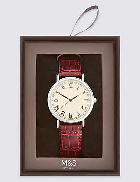 Round Face Analogue Classic Roman Watch