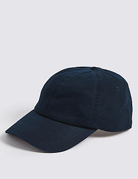 Pure Cotton Baseball Cap, NAVY, catlanding