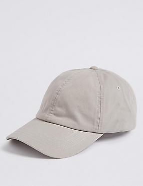 Pure Cotton Baseball Cap, STONE, catlanding