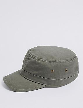 Pure Cotton Train Driver Hat, KHAKI, catlanding