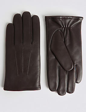 Leather Gloves with Thinsulate™, BROWN, catlanding