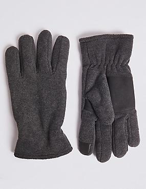 Fleece Gloves, CHARCOAL, catlanding
