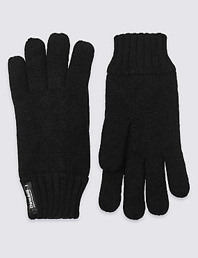 Thinsulate™ Knitted Gloves, BLACK, catlanding