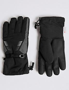 Waterproof Ski Performance Gloves with Thinsulate™ , BLACK, catlanding