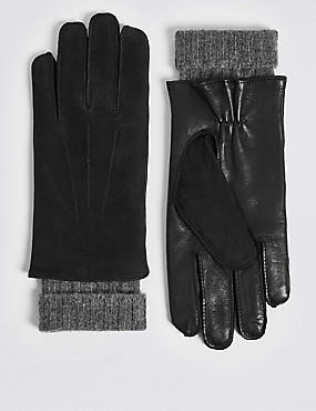 Luxury Cashmere Lined Leather Gloves