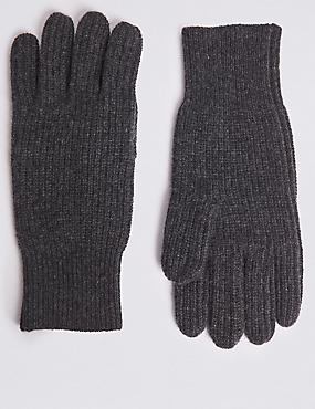 Pure Cashmere Gloves, CHARCOAL, catlanding