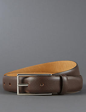 Leather Honeycomb Textured Belt