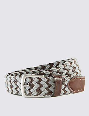 Marl Plaited Belt