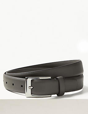 Rectangular Buckle Smart Belt, GREY, catlanding