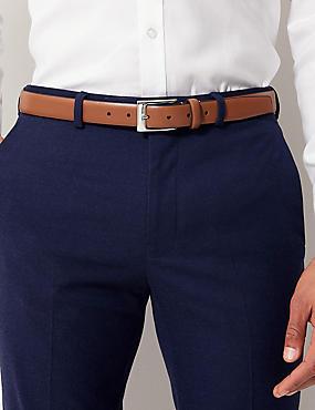 Rectangular Buckle Smart Belt, TAN, catlanding