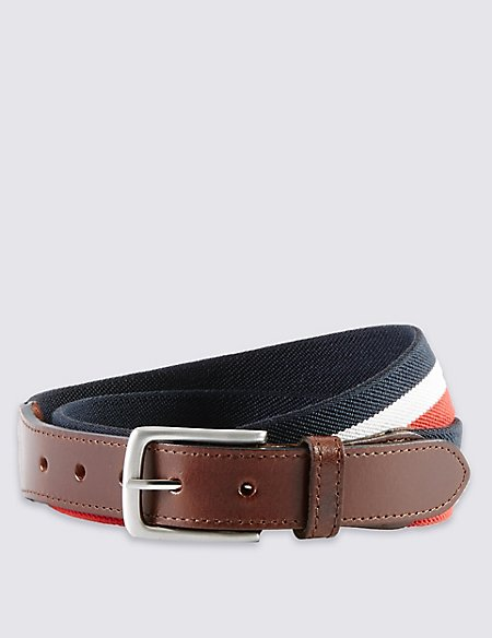 Triple Striped Stretch Belt