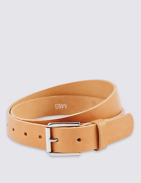 Leather Roller Buckle Belt